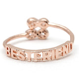 best friends infinity ring, adjustable - girlsluv.it  - 6