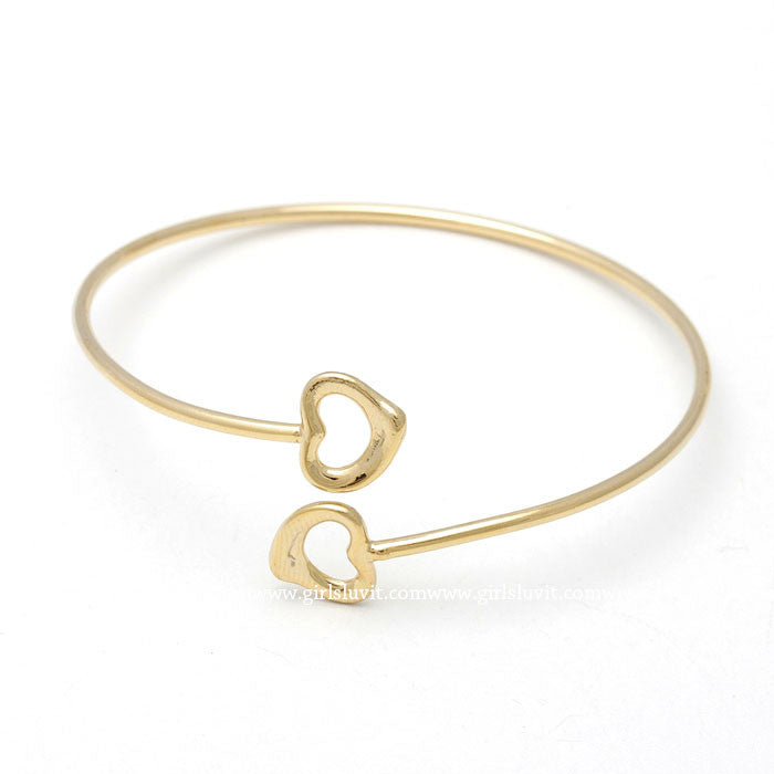 heart bracelet, adustable - girlsluv.it  - 1