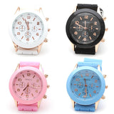 Geneva Unisex Silicone Jelly Gel Quartz Analog Sports Wrist Watch