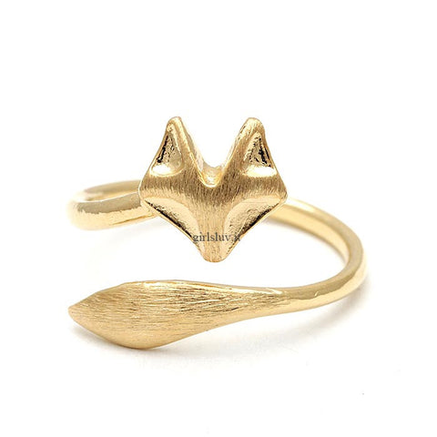 fox ring, adjustable - girlsluv.it  - 1
