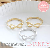 infinity ring, hammered - girlsluv.it  - 4