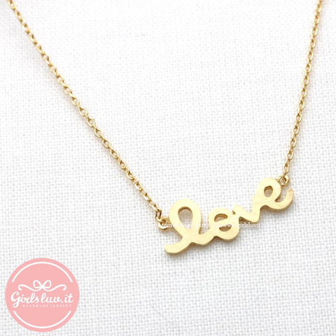 LOVE necklace, 3colors - girlsluv.it  - 1