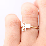 mr.HAT & MUSTACHE adjustable ring, 2 colors - girlsluv.it  - 5