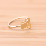 mr.HAT & MUSTACHE adjustable ring, 2 colors - girlsluv.it  - 2