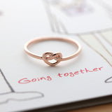 tiny HEART knot ring, 3 colors - girlsluv.it  - 3