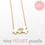 tiny HEART PUZZLE necklace, 2 colors - girlsluv.it  - 1