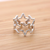open star thumb ring - girlsluv.it  - 3