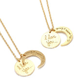 i love you and to the moon and back necklace - girlsluv.it  - 1