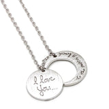 i love you and to the moon and back necklace - girlsluv.it  - 2