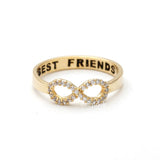 infinity best friends ring, crystals - girlsluv.it  - 3