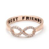 best friends infinity ring in pinkgold - girlsluv.it  - 3