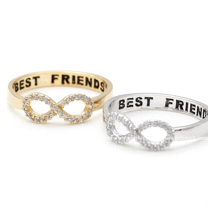infinity best friends ring, crystals - girlsluv.it  - 1