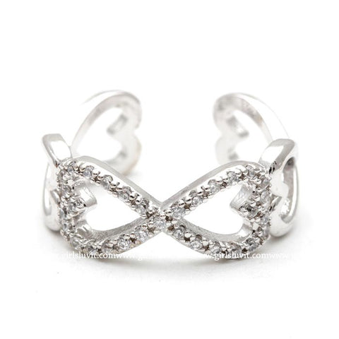 infinity heart ring - girlsluv.it  - 1