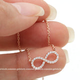 infinity necklace, crystals - girlsluv.it  - 1