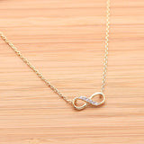 infinity necklace, half crystals - girlsluv.it  - 2