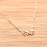INFINITY necklace with CZ - girlsluv.it  - 2