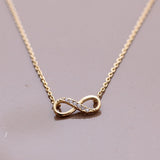 INFINITY necklace with CZ - girlsluv.it  - 4