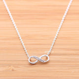 infinity necklace, half crystals - girlsluv.it  - 1