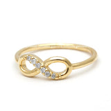 infinity ring, half crystals - girlsluv.it  - 2