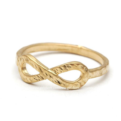 infinity ring, hammered - girlsluv.it  - 1