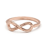 infinity ring, hammered - girlsluv.it  - 3