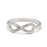 infinity ring, hammered - girlsluv.it  - 2