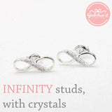 infinity earrings, half crystals - girlsluv.it  - 2