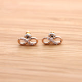 infinity earrings, half crystals - girlsluv.it  - 5