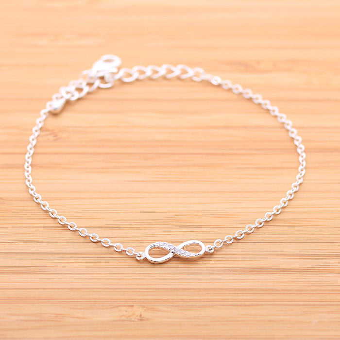 INFINITY with crystals bracelet, 2 colors - girlsluv.it  - 1
