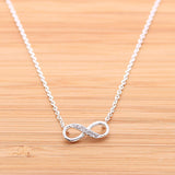 INFINITY necklace with CZ - girlsluv.it  - 1