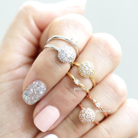 crystal ball knuckle ring - girlsluv.it  - 1