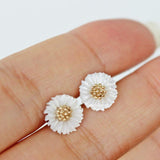 flower earrings with shell - girlsluv.it  - 2