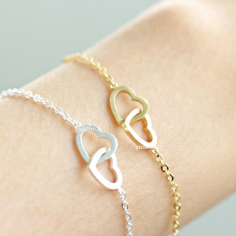 open heart bracelet, crossed - girlsluv.it  - 1