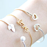 heart bracelet, adustable - girlsluv.it  - 2