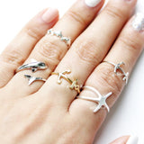 tiny anchor knuckle ring, adjustable - girlsluv.it  - 2
