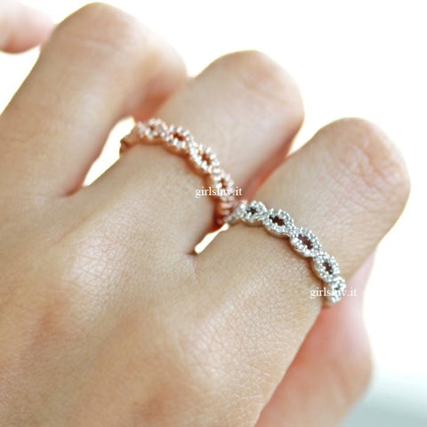 tiny infinity ring, crystals - girlsluv.it  - 1