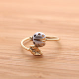 ladybug with leaf ring adjustable, 3 colors - girlsluv.it  - 3