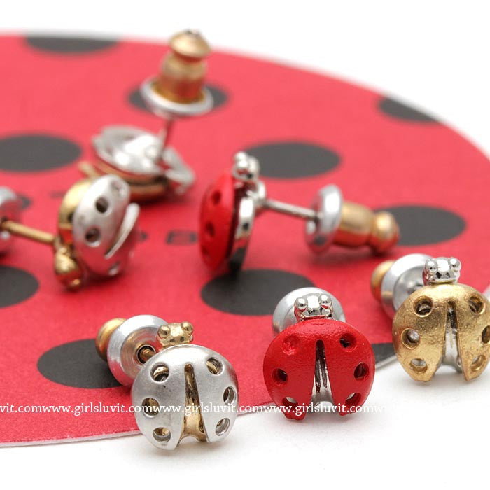 ladybug earrings - girlsluv.it
