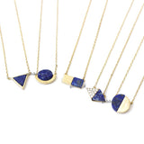 lapis lazuli necklace, gemstone necklace - girlsluv.it  - 2