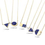 lapis lazuli necklace, gemstone necklace - girlsluv.it  - 1