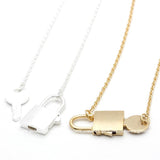 lock and key necklace - girlsluv.it  - 1