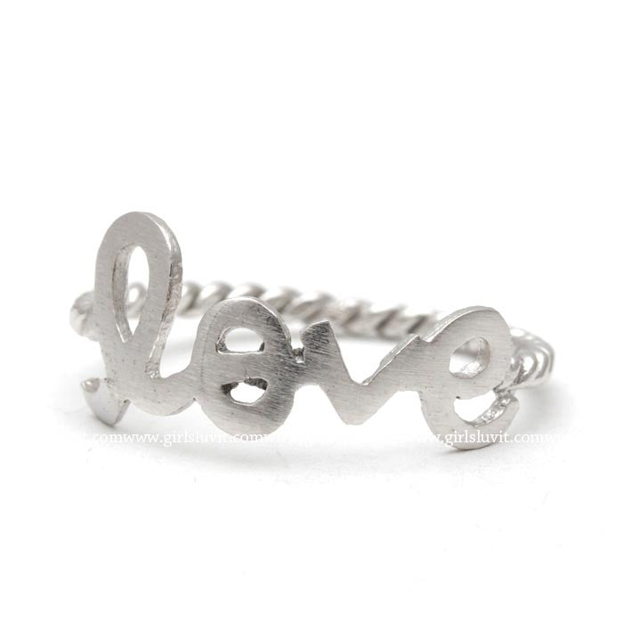 sterling silver, love ring, twisted - girlsluv.it  - 1