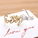 loveyou ring, adjustable - girlsluv.it  - 1