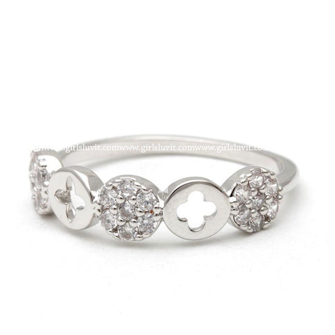 clover ring, crystals - girlsluv.it  - 1
