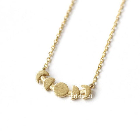 Moon Phrase Necklace, 2 Colors