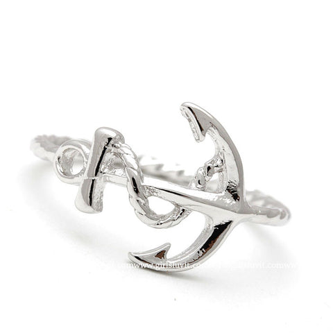 anchor with rope ring, twisted - girlsluv.it