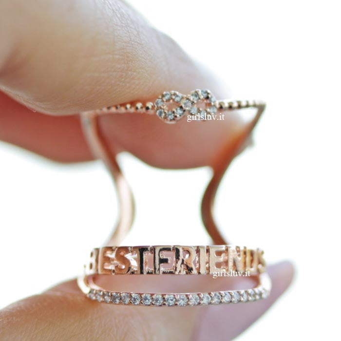 best friend infinity ring set - girlsluv.it  - 1