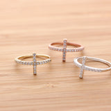 sideways cross ring, crystals - girlsluv.it  - 4