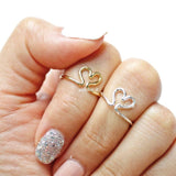 open heart knuckle ring - girlsluv.it  - 1