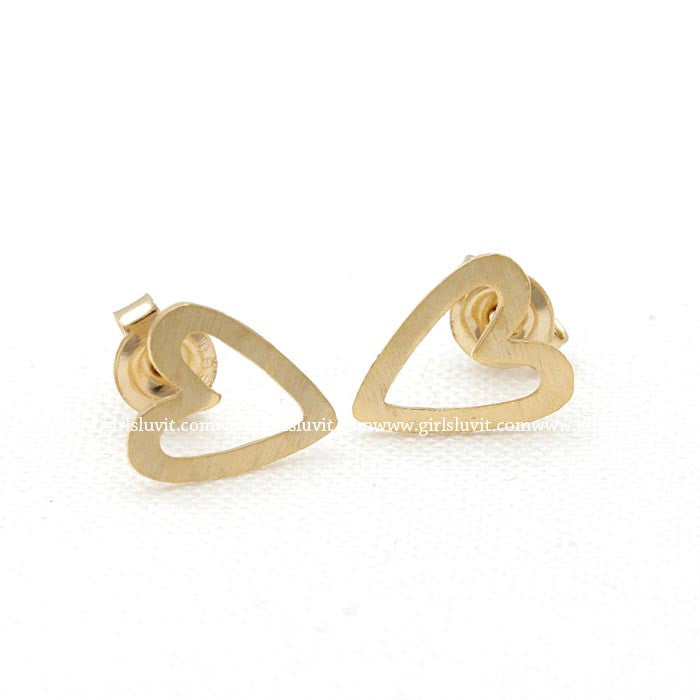 open heart earrings - girlsluv.it  - 1